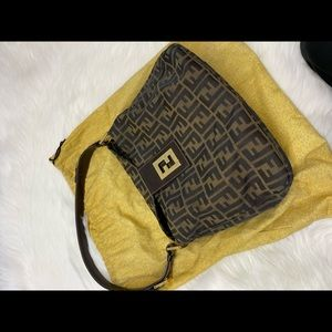 Authentic vintage Fendi Zucca mama baguette